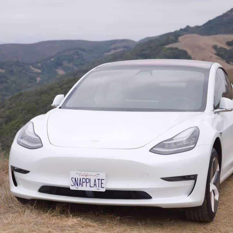 SnapPlate Model 3 Front License Plate Mount by LivingTesla